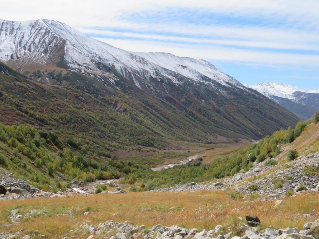 Back down Engeri valley, new snow on ridge - © William Mackesy
