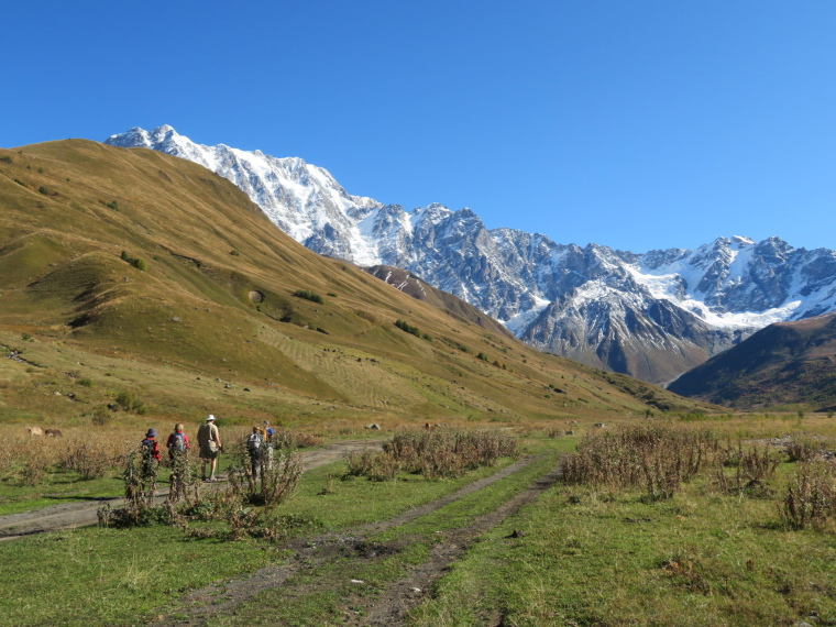 Svaneti Region:  Upper Engeri valley to high range - © William Mackesy