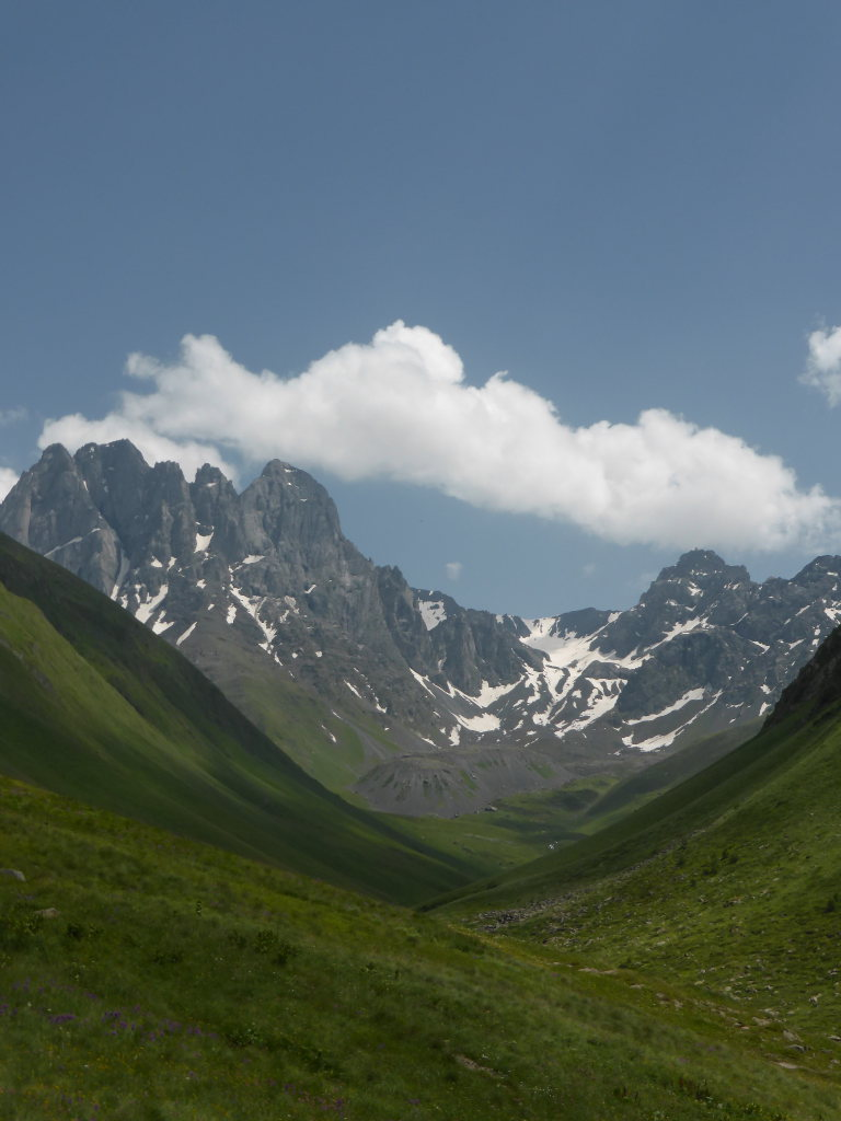 Khevi, Kazbegi and the Military Highway : Chaukhi Mt - © Nick Ince