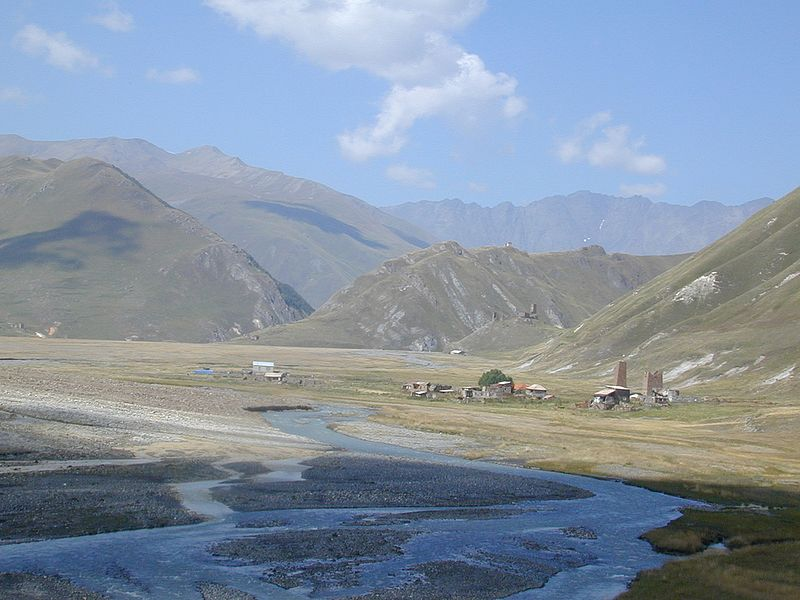 Khevi, Kazbegi and the Military Highway : Truso Valley - Villages of Abano and Zakagori - © Wiki Commons