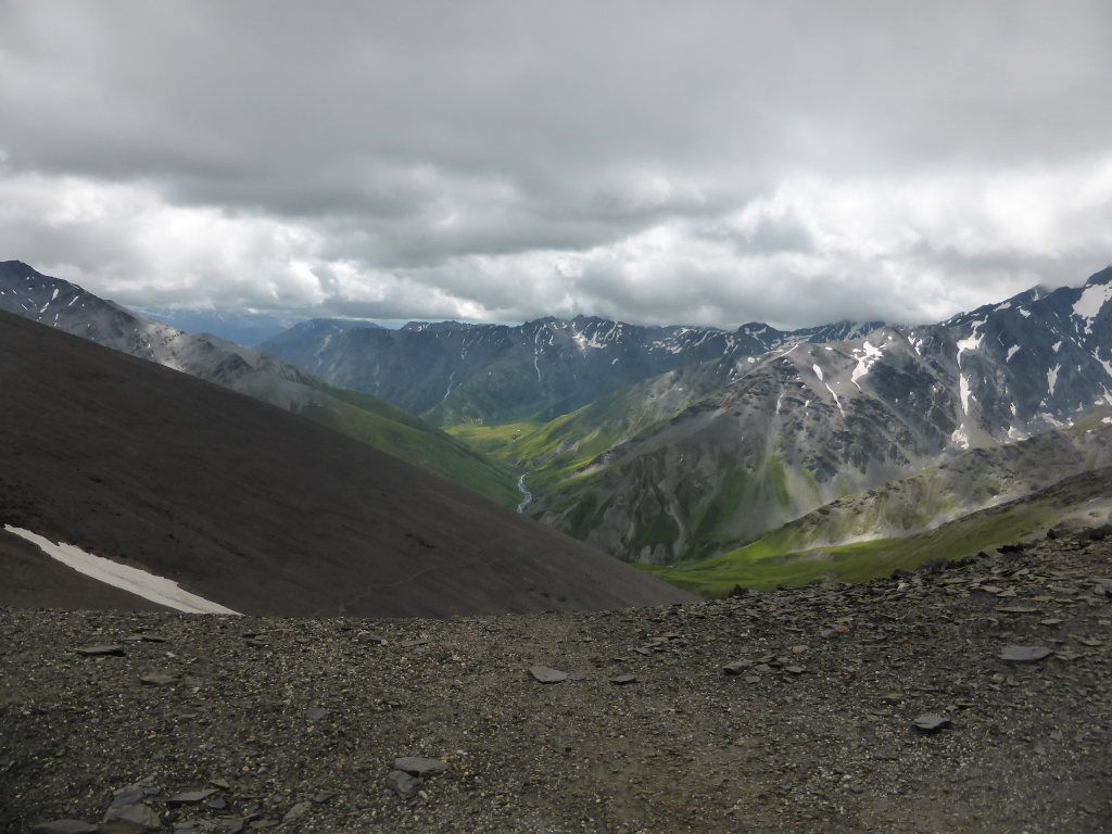 Tusheti and Khevsureti: Tusheti from Atsunta pass