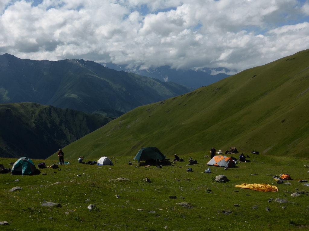 Tusheti and Khevsureti: Campsite below Atsunta