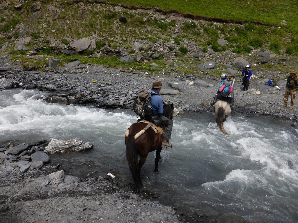 Tusheti and Khevsureti: Crossing the river on Border Patrol horses