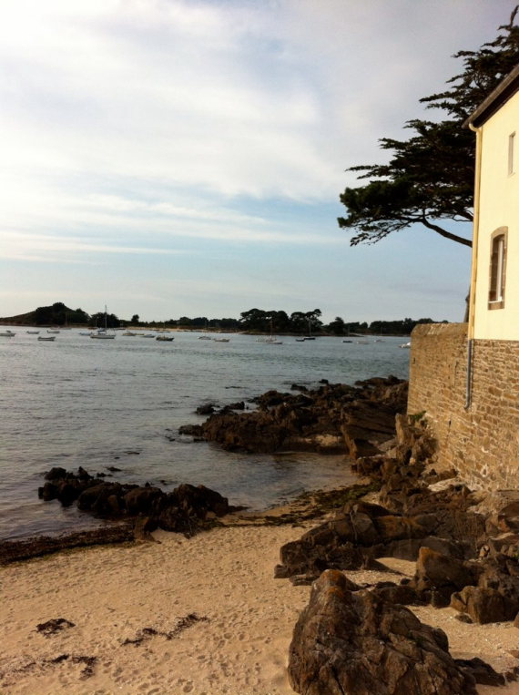 France Brittany, Carantec, Ile de Callot, Face a l'ile Callot a Carantec, Walkopedia