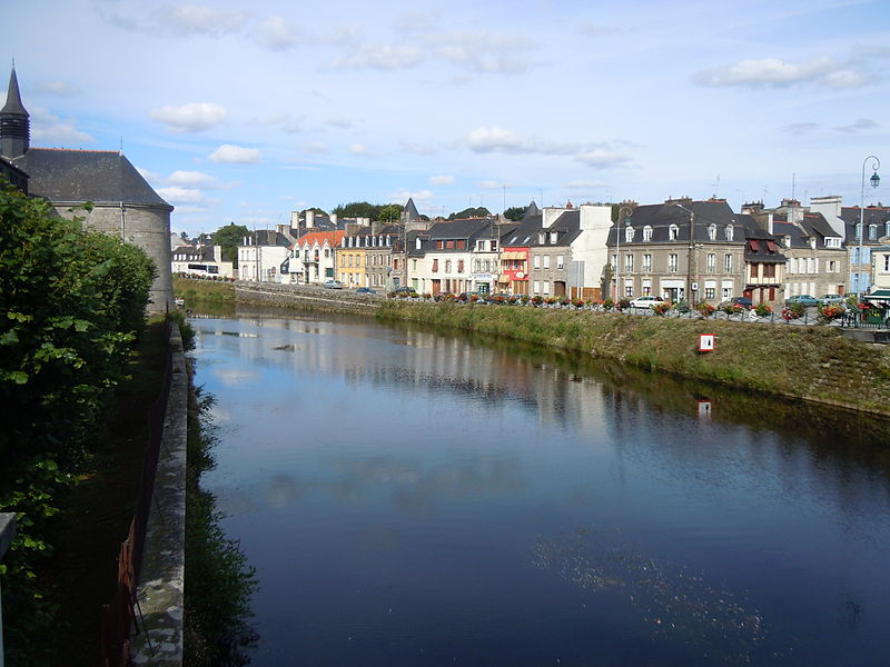 France Brittany, Brest-Nantes Canal, Blavet canalie Pontivy, Walkopedia