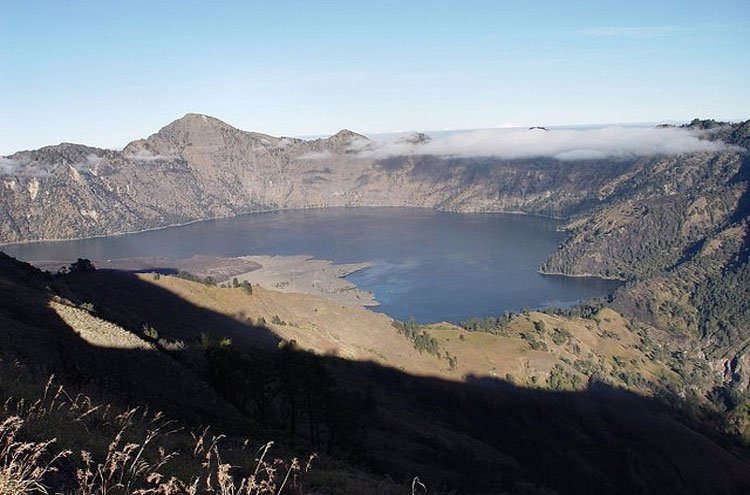 Mount Rinjani: Mount Rinjani and Segara Anak Lake - ? From Flickr user BohariAdventures