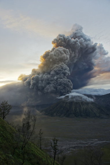 Mount Bromo eruption  - © Wiki user Vladimir R