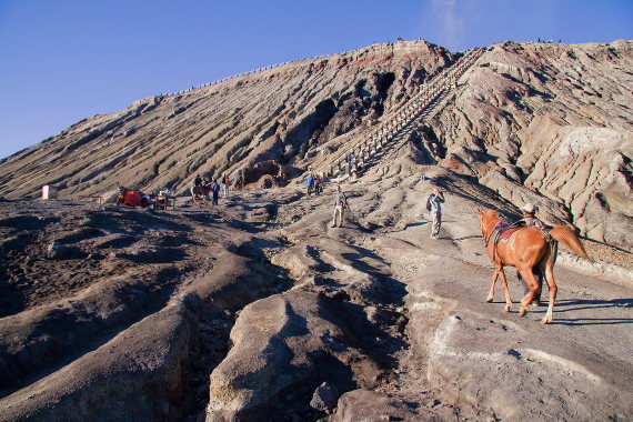 Mt Bromo: Riding up the volcano Mount Bromo - ©  wiki Harri J