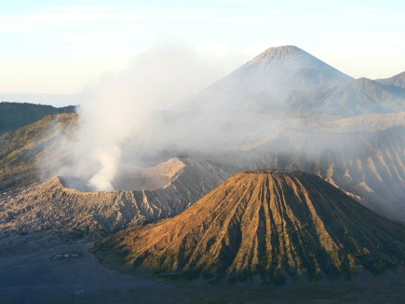 Sunrise view on Bromo crater, Mt. Semeru in the background  - ©  flickr user- Paul Arps