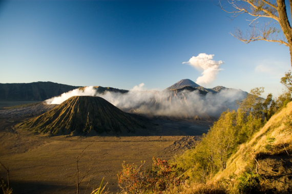 "Tengger Caldera with Mt. Bromo, Mt. Batok, Mt. Semeru  - © flickr user Kai ""Oswalkd"" Seidler"