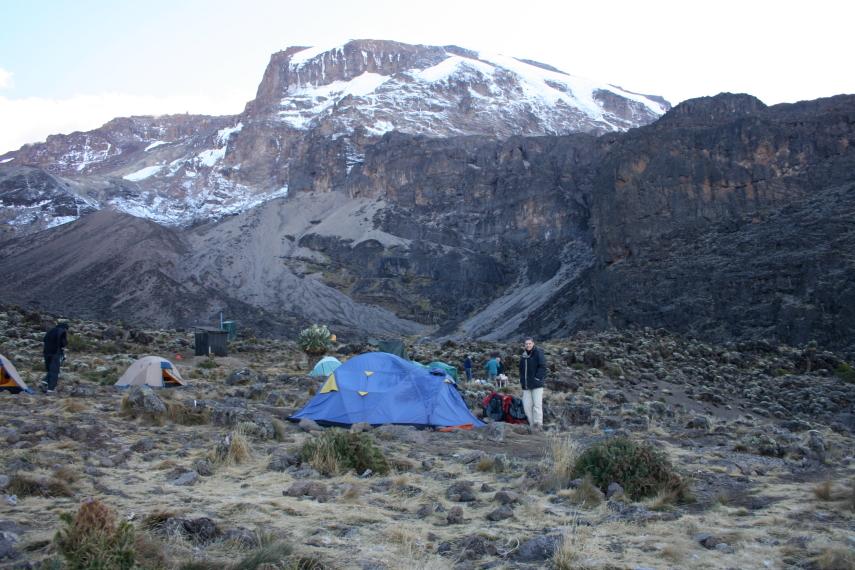 Tanzania Mount Kilimanjaro, Machame Route, Camp on the Machame route, Walkopedia
