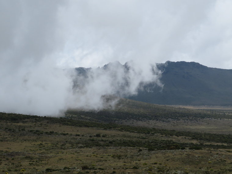 Lemosho and Shira Routes  : Day 3,  cloud coming over plateau edge - © William Mackesy