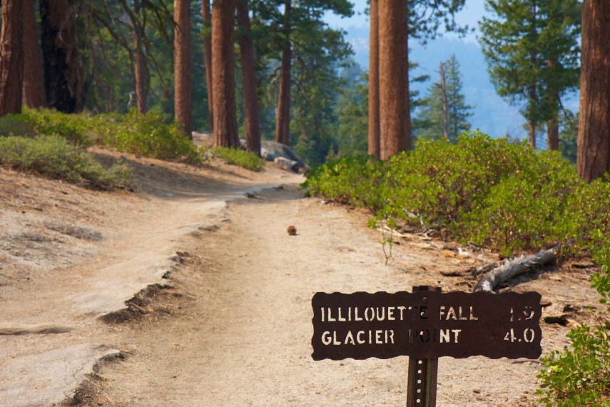 USA California Yosemite, Panorama Trail, Halfway along Panorama Trail, Walkopedia