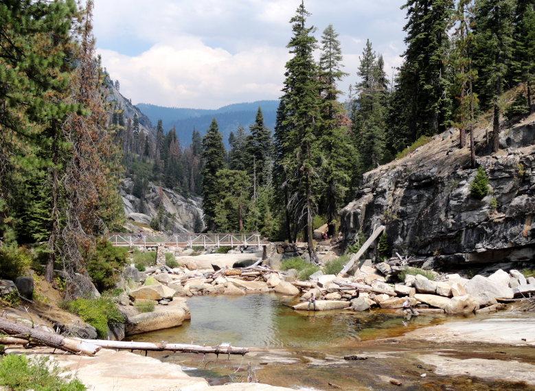 USA California Yosemite, Panorama Trail, Illilouette Creek, Panorama Trail, Walkopedia