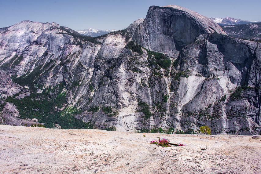 USA California Yosemite, North Dome, Half Dome from N Dome, Walkopedia
