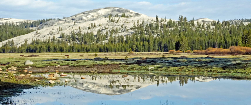 USA California Yosemite, Grand Traverse , Dome Reflection at Tuolumne Meadows, Walkopedia