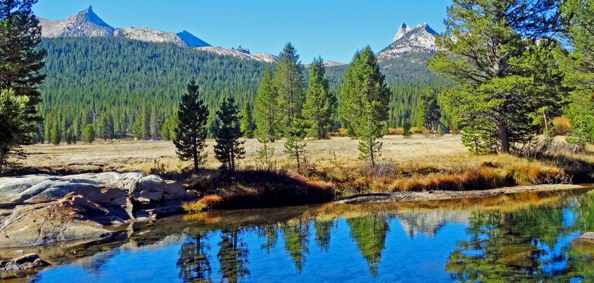 USA California Yosemite, Grand Traverse , Tuolumne Meadow and River, Walkopedia
