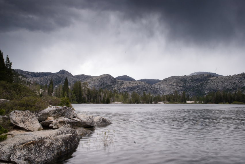 Hetch Hetchy Area: Vernon Lake and distant thunderstorms - © c Flickr user brookpeterson