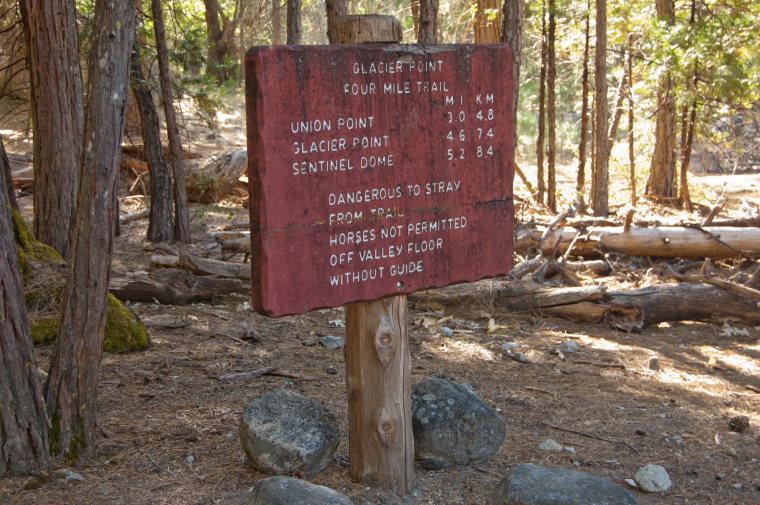 USA California Yosemite, Four Mile Trail, Four Mile Trailhead, Walkopedia