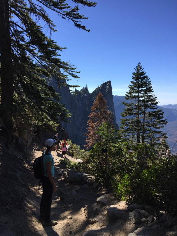 USA California Yosemite, Four Mile Trail, Heading down Four Mile Trail, Walkopedia