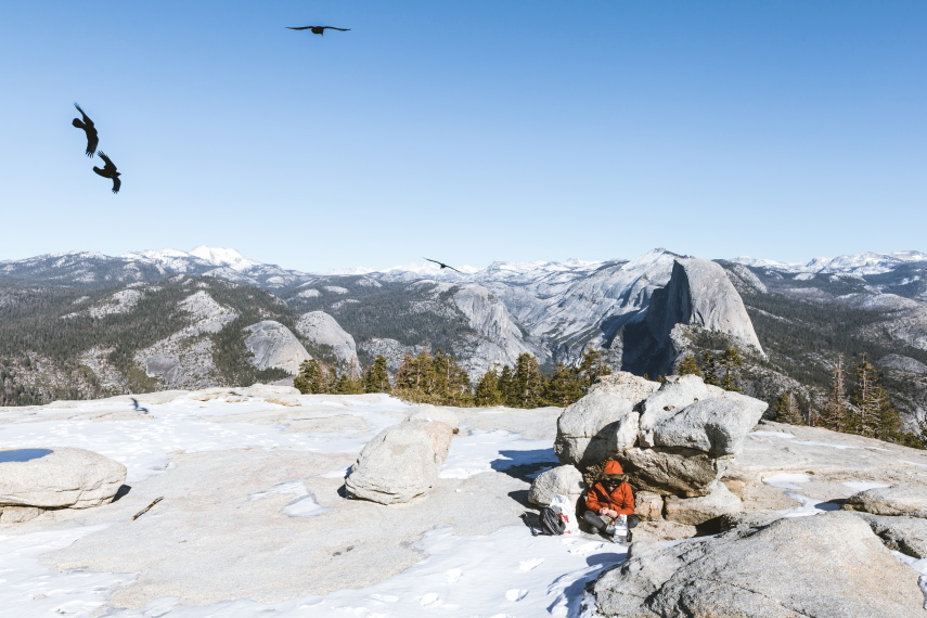 Sentinel Dome and Taft Point: Lunch on top of Sentinel Dome - © Flickr user mattvaux7