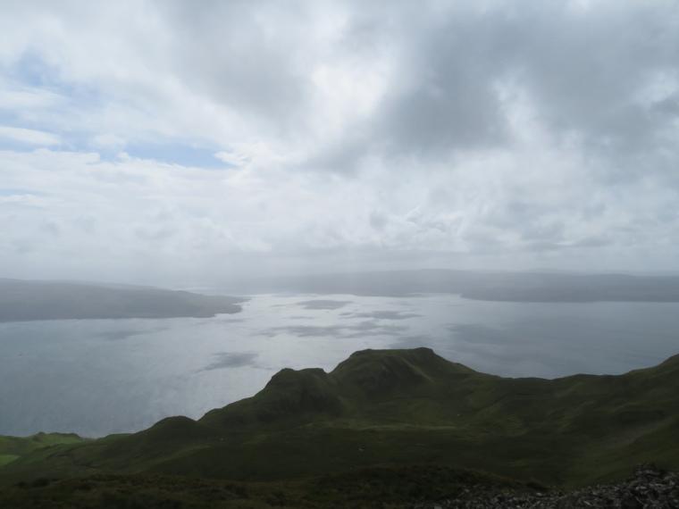 United Kingdom Scotland NW Highlands Ardnamurchan, Ben Hiant, Light on  sea towards Mull, Walkopedia