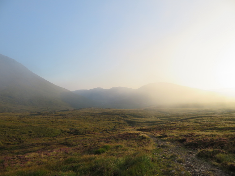 Coire na Creiche: Glen Brittle top, late misty light - © William Mackesy