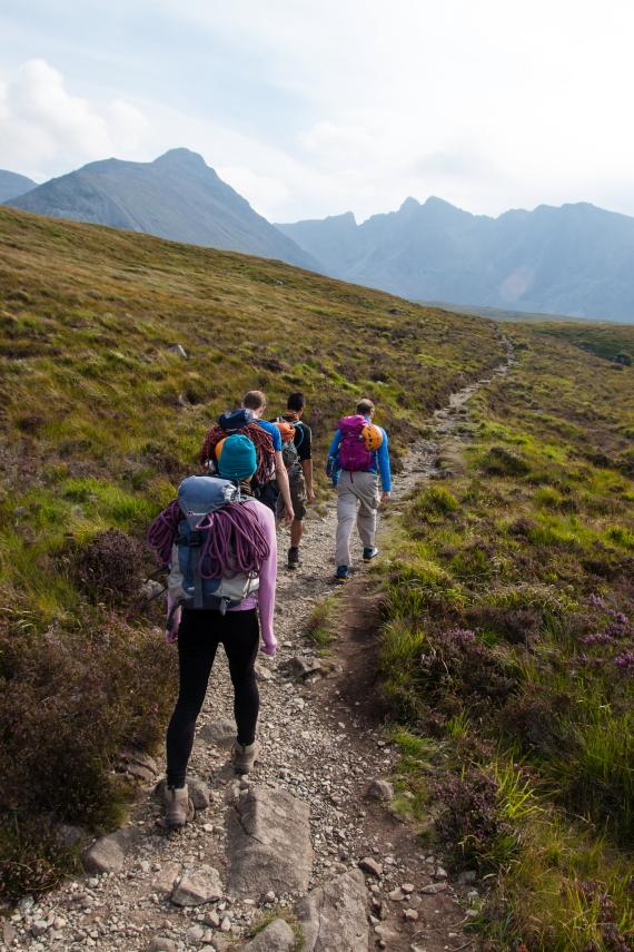 United Kingdom Scotland Isles Skye, Coire Lagan and Sgurr Alasdair, Towards Sgurr Alasdair, Walkopedia