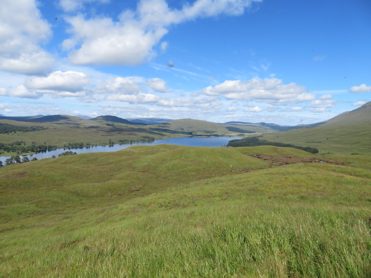 United Kingdom Scotland SW Highlands, Bridge of Orchy to Kingshouse, Rannoch Moor, Loch Tulla from first hill, Walkopedia