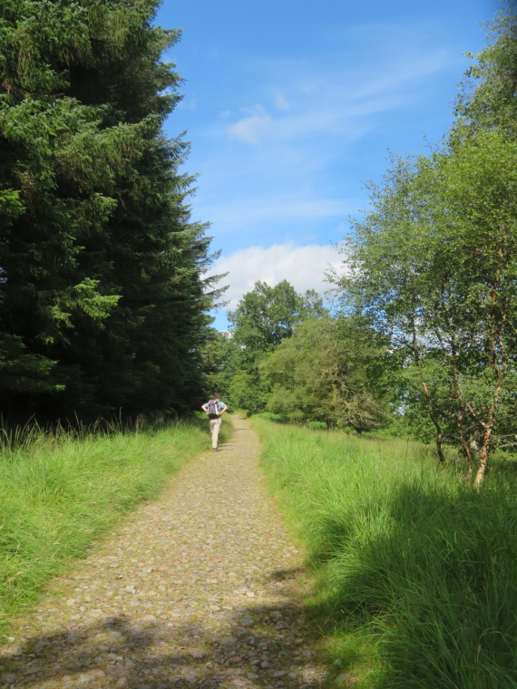 Bridge of Orchy to Kingshouse, Rannoch Moor: Paved old military road