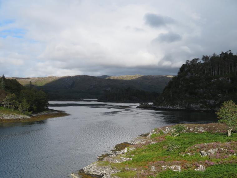 United Kingdom Scotland NW Highlands Ardnamurchan,  Silver Walk, Down Loch Moidart, Walkopedia