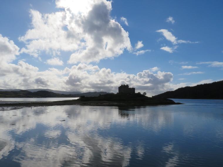 United Kingdom Scotland NW Highlands Ardnamurchan,  Silver Walk, Castle Tioram from Silver Walk, Walkopedia