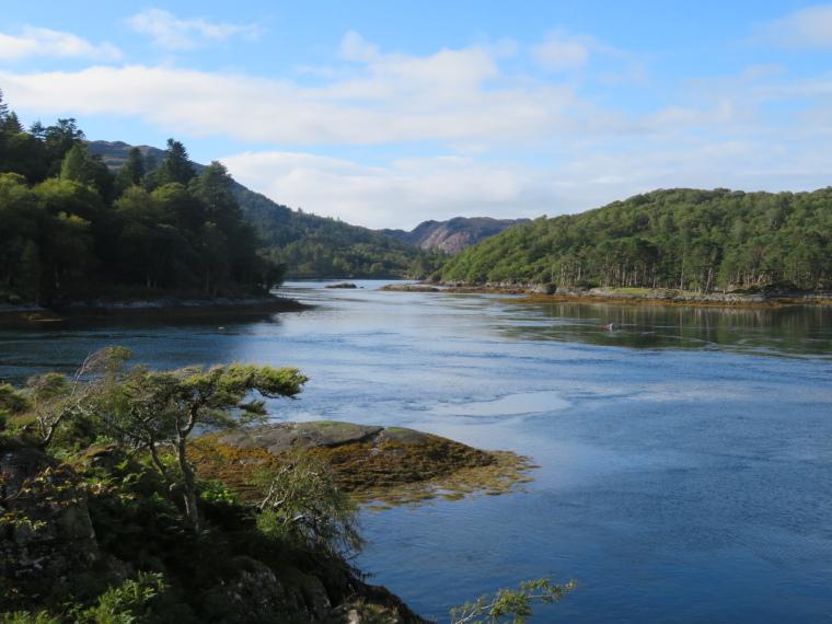 United Kingdom Scotland NW Highlands Ardnamurchan,  Silver Walk, Across Loch Moidart, Walkopedia