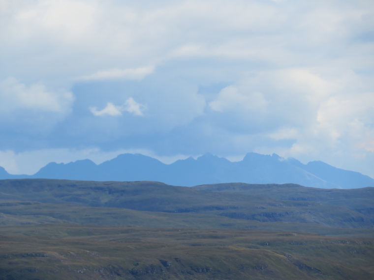 NW Capes and Cliffs: Across the hills to the Black Cuillin - © William Mackesy