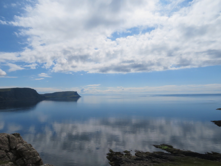 United Kingdom Scotland Isles Skye, NW Capes and Cliffs, The Hoe from Neist Point, reflections, Walkopedia