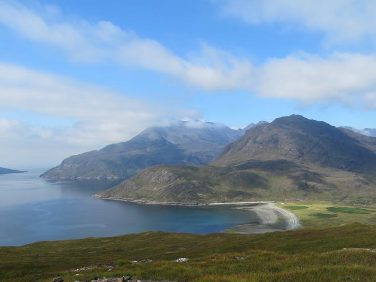 United Kingdom Scotland Isles Skye, Skye Trail, Sgurr na Stri, Black Cuillin from Camasunary walk, Walkopedia