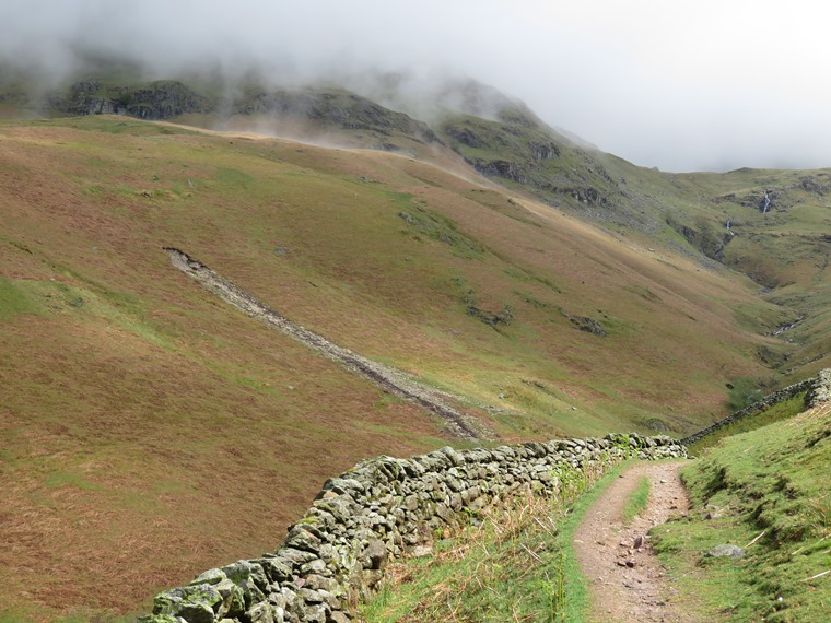 The Lake District: UpTongue Gill, good light, Seat Saddle to left