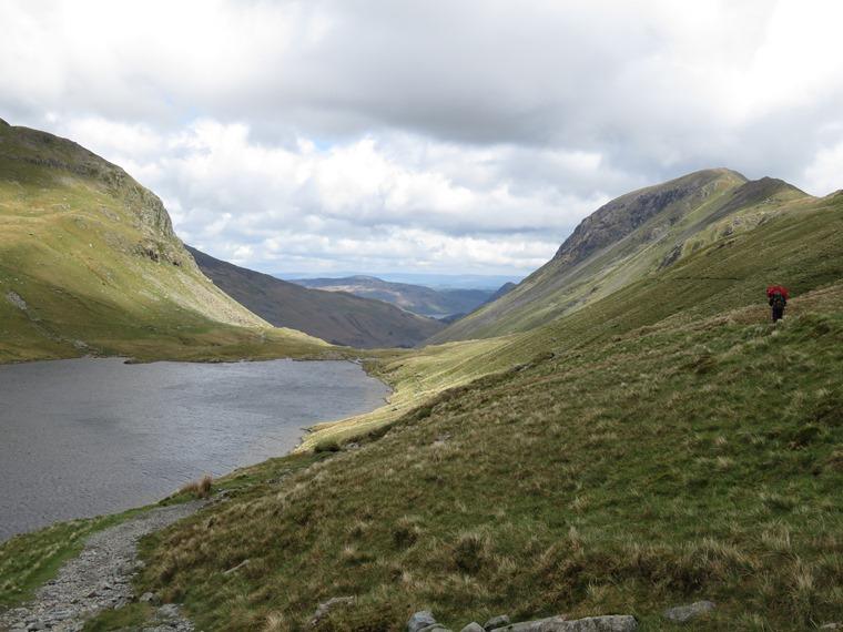 The Lake District: Across Grisedale Tarn toward Patterdale