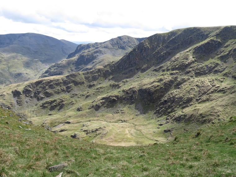 The Lake District: Helvellyn ridge from Striding Edge base