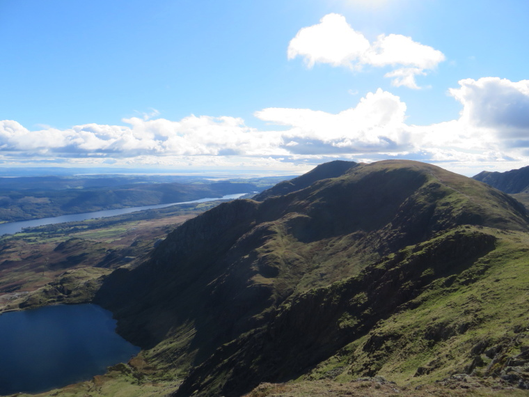 The Lake District:  Looking south from Great How alog ridge to Old Man - © William Mackesy