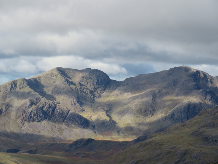 The Lake District: Scafell group from Swirl how - © William Mackesy