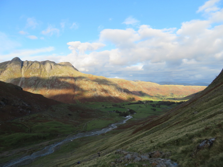 The Lake District: Langdale Pikes and Gt L valley from Pike of Blisco flank - © William Mackesy
