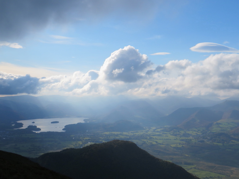 The Lake District: North to Dewent Water from below Ullock Pike - © William Mackesy