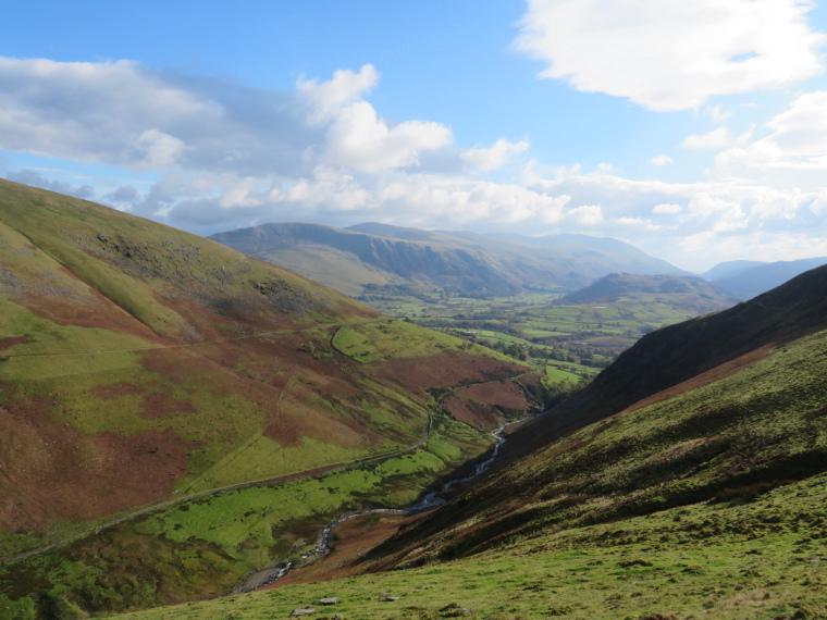 The Lake District: South down Glenderterra valley nr Keswick from Cumbria Way - © William Mackesy