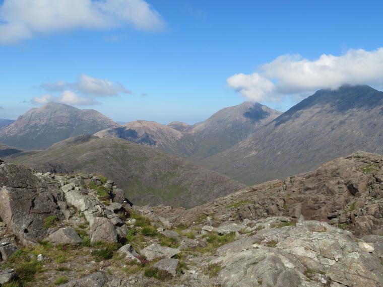 United Kingdom Scotland Isles Skye, Bla Bheinn, Bla Bheinn R, Marsco L,  from Sgurr na Stri, Walkopedia