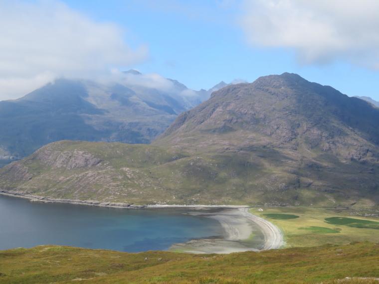 United Kingdom Scotland Isles Skye, Glen Sligachan, Southern terminus, Camasunary beach, Sgurr na Stri, Black Cuillin, Walkopedia