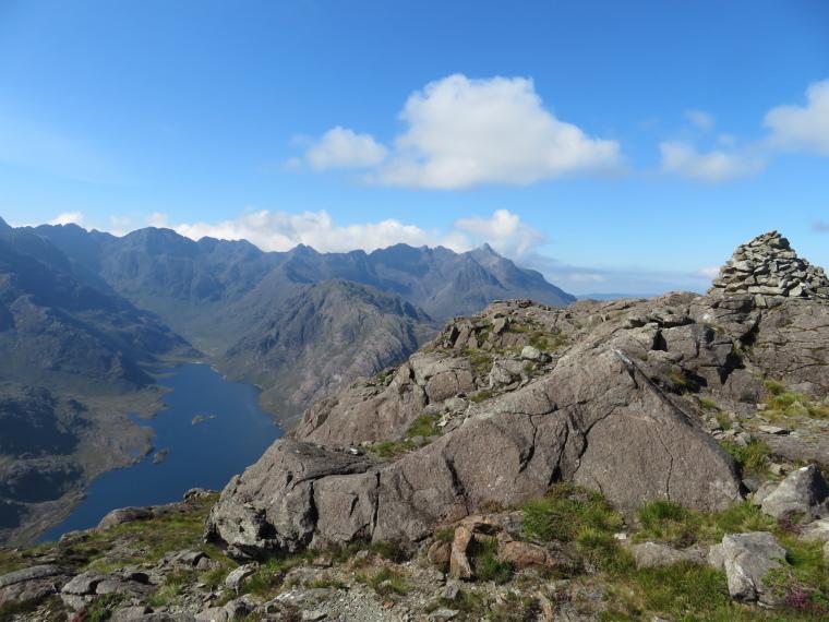 United Kingdom Scotland Isles Skye, Loch Coruisk,  Loch Coruisk and Black Cuillin Ridge from Sgurr na Stri ridge, Walkopedia