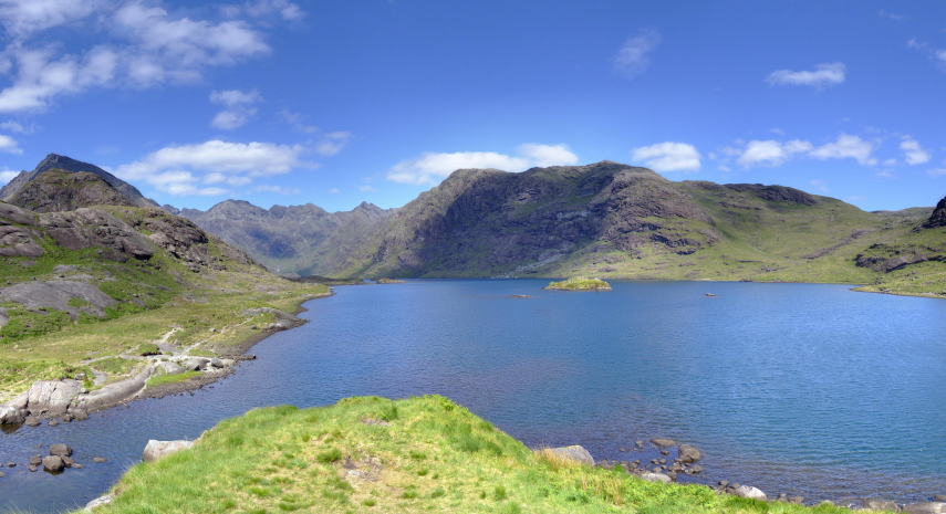 United Kingdom Scotland Isles Skye, Loch Coruisk, Loch Coruisk from the Memorial Hut, Walkopedia