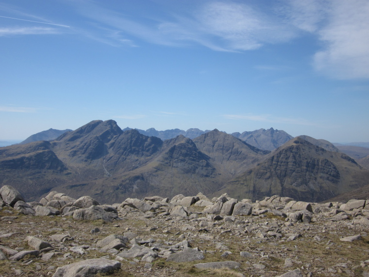 United Kingdom Scotland Isles Skye, Eastern Cuillin Circuit, View from summit of Beinn Dearg Mhor, Walkopedia