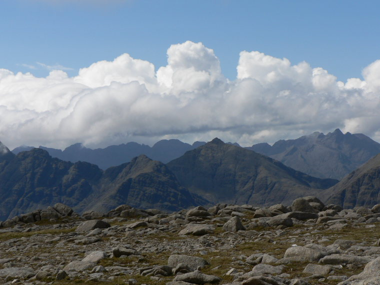 United Kingdom Scotland Isles Skye, Eastern Cuillin Circuit, Black Cuillins from Beinn na Caillich, Walkopedia